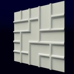 """Гипсовые 3D панели для стен """"Тетрис"""""""