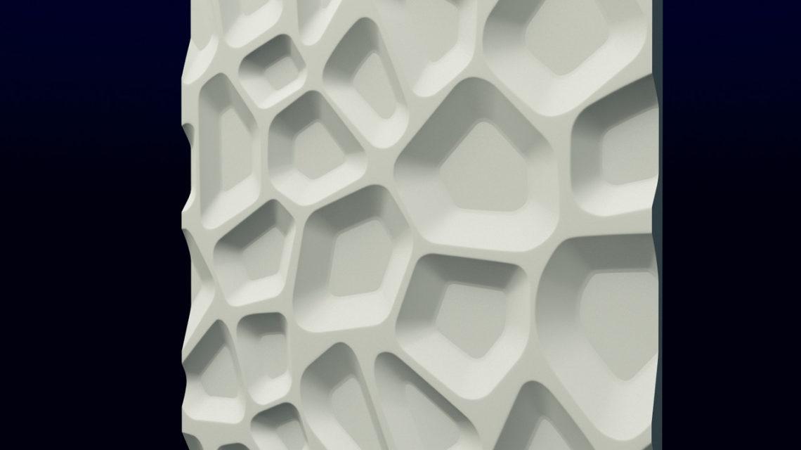 """Гипсовые 3D панели для стен """"Впадины"""""""