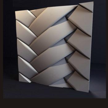 """Гипсовые 3D панели для стен """"Переплет"""""""