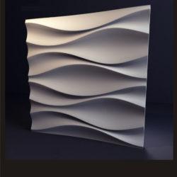 """Гипсовые 3D панели для стен """"Луни """""""