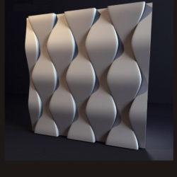 """Гипсовые 3D панели для стен """"Чешуя"""""""