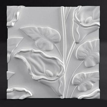 """Гипсовые 3D панели для стен """"Lotus"""""""