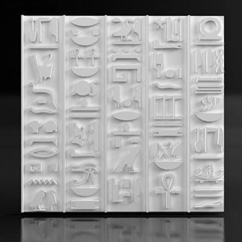 """Дизайнерские гипсовые 3d панели для стен """"Pharaoh"""""""