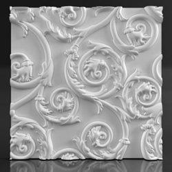 """Дизайнерские гипсовые 3d панели для стен """"Twig"""""""
