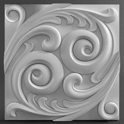 """3D гипсовые панели """"Sea"""""""