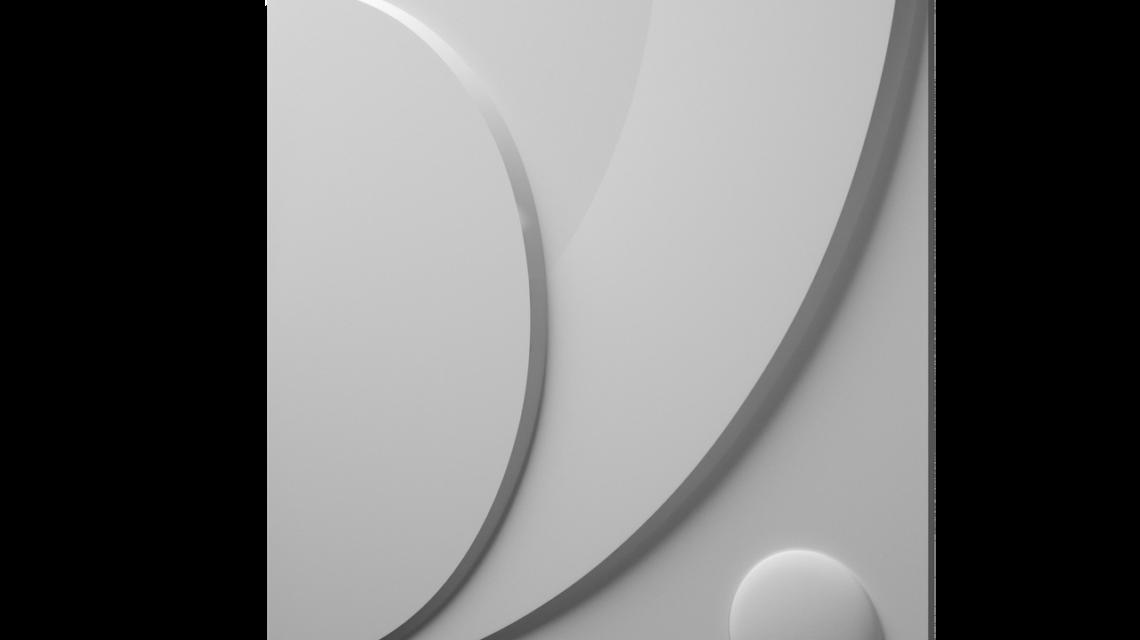"""Дизайнерские гипсовые 3d панели для стен """"Клевер"""""""