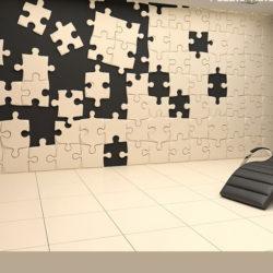 """Гипсовые 3D панели для стен """"Пазлы"""""""