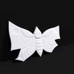 """Гипсовые 3D панели для стен """"Бабочки"""""""