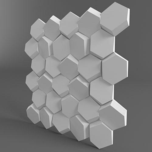 """Гипсовые 3D панели для стен """"Улей"""""""