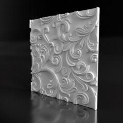 """Гипсовые 3D панели для стен """"Agave"""""""