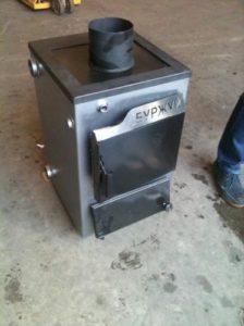 твердотопливный котел Буржуй К 12 кВт (сталь 3 мм)