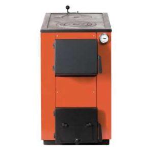 твердотопливный котел МаксиТерм 20 кВт с чугунной плитой