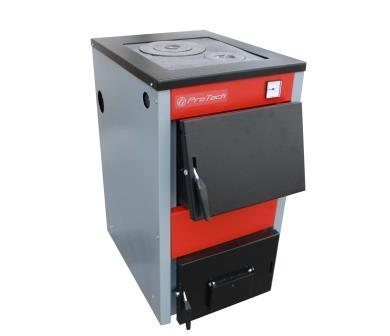твердотопливный котел Protech ТТП - 12 кВт D Luxe (сталь 4 мм)